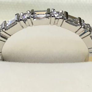 Round & Baguette Diamond Eternity Ring