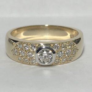 Pave Set Diamond Dress Ring